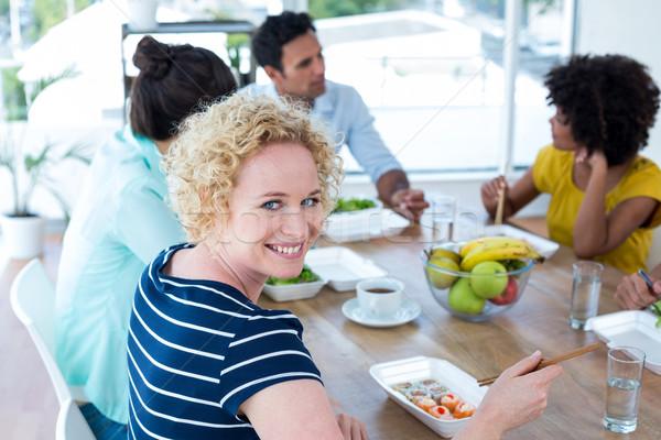 Işkadını öğle yemeği genç arkadaşları kadın kahve Stok fotoğraf © wavebreak_media