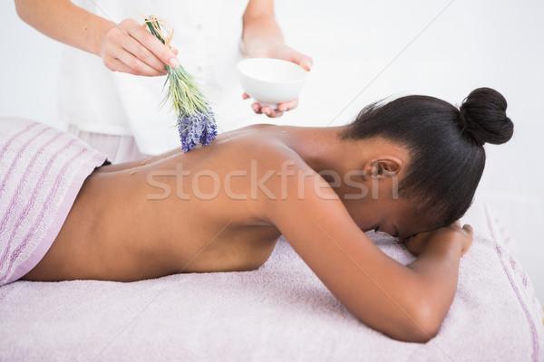 Mulher bonita aromaterapia massagem mulher Foto stock © wavebreak_media