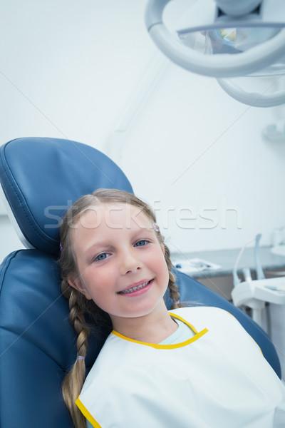 Kız bekleme diş sınav portre gülen Stok fotoğraf © wavebreak_media