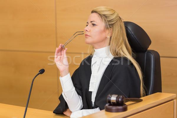 Stern judge looking and listening  Stock photo © wavebreak_media