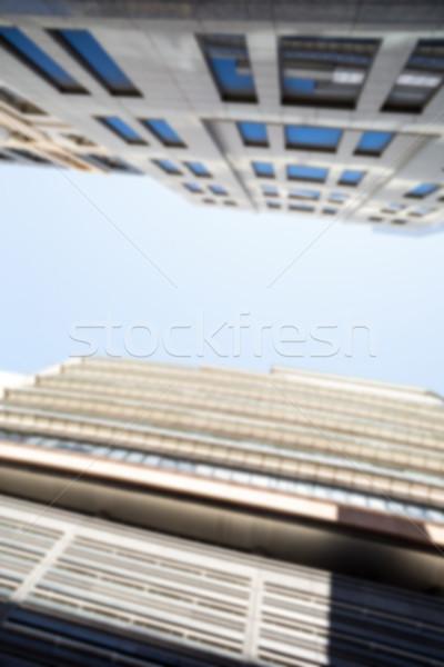 Alulról fotózva városkép kék ég város felhőkarcoló Stock fotó © wavebreak_media