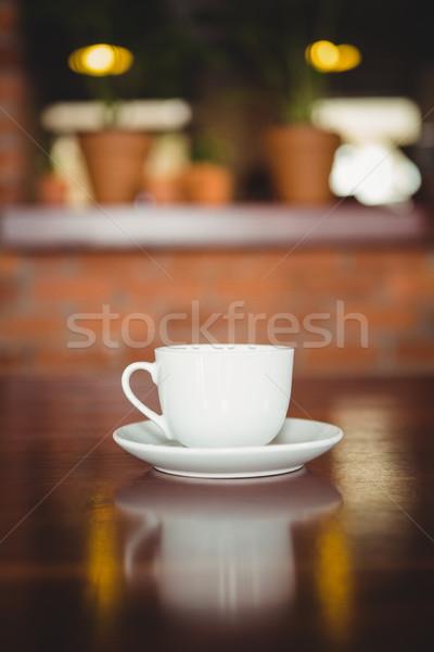 Beker schotel counter coffeeshop koffie professionele Stockfoto © wavebreak_media
