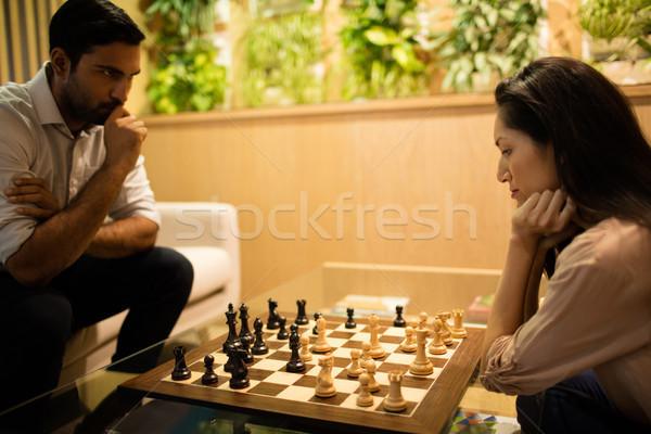 Grave business colleghi giocare scacchi ufficio Foto d'archivio © wavebreak_media