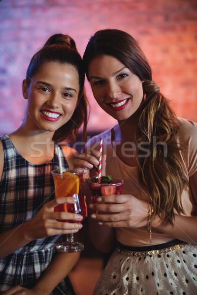 портрет два коктейль напитки Паб Сток-фото © wavebreak_media