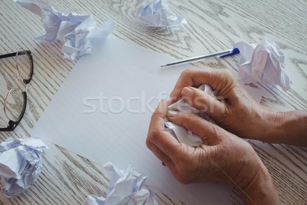 Stok fotoğraf: Işkadını · kağıtları · büro · ofis · iş