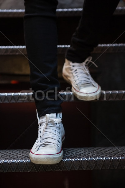 Low section of man moving down the staircase Stock photo © wavebreak_media