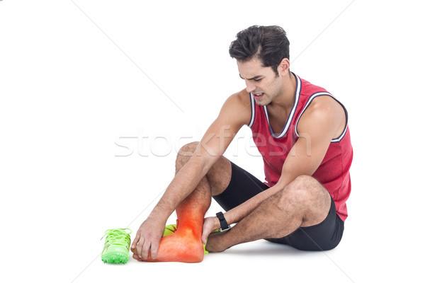 Been botten gewond man witte digitale composiet Stockfoto © wavebreak_media