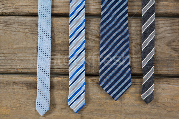 Overhead view of neckties on table Stock photo © wavebreak_media