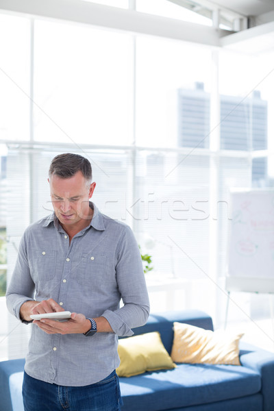 Male executive using mobile phone Stock photo © wavebreak_media