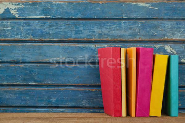 Livres bleu bois école fenêtre Photo stock © wavebreak_media