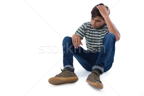 Relajante blanco triste teléfono adolescente Foto stock © wavebreak_media