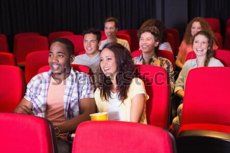 Mutlu çift izlerken film tiyatro adam Stok fotoğraf © wavebreak_media