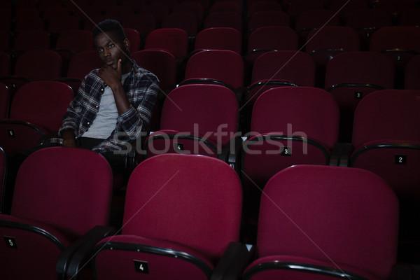 концентрированный человека смотрят фильма театра фильма Сток-фото © wavebreak_media