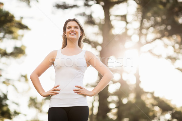 Young happy jogger looking at something in the distance Stock photo © wavebreak_media