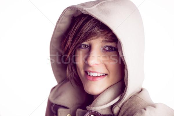 魅力のある女性 着用 コート スタジオ ストックフォト © wavebreak_media