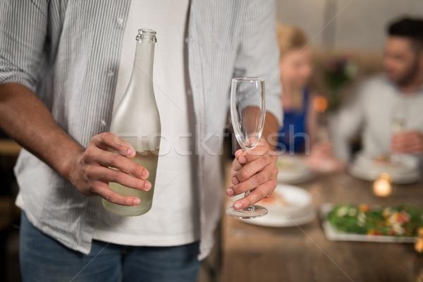 Adam şampanya restoran iş Stok fotoğraf © wavebreak_media