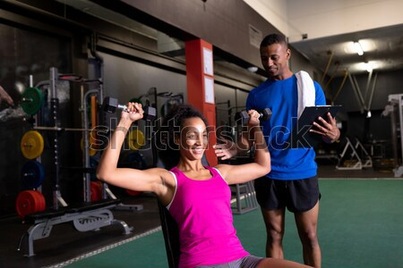 Souriant Homme volleyball joueur permanent Photo stock © wavebreak_media