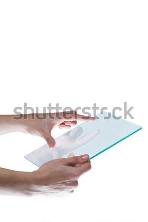 женщины исполнительного невидимый объект белый Сток-фото © wavebreak_media