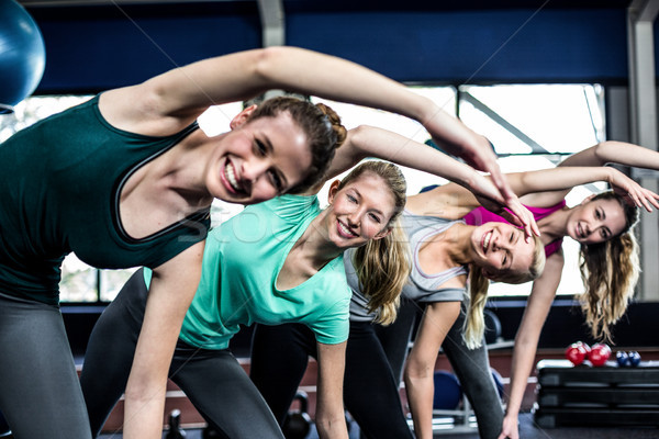 Fitness class doing exercises Stock photo © wavebreak_media