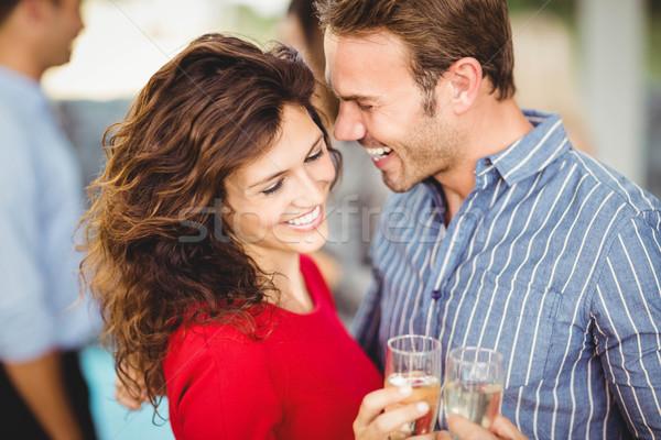 Romantic couple having drinks  Stock photo © wavebreak_media