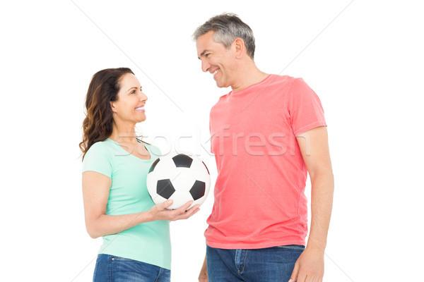 興奮した サッカー ファン カップル カメラ ストックフォト © wavebreak_media