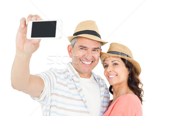 Cute couple taking selfie Stock photo © wavebreak_media