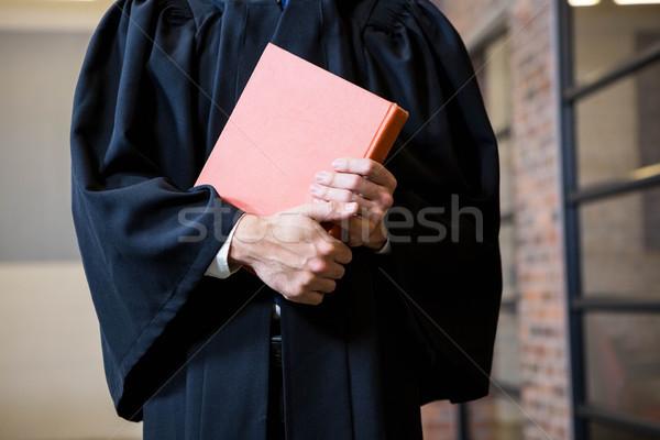 Lawyer holding a law book Stock photo © wavebreak_media