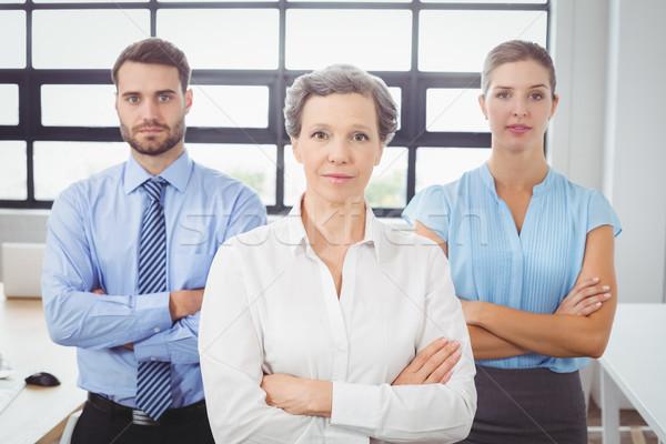 Retrato pessoas de negócios secretária escritório em pé Foto stock © wavebreak_media