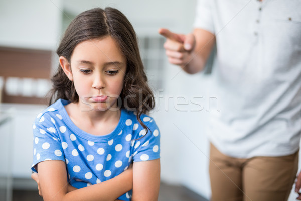 Midsection of father quarreling with daughter  Stock photo © wavebreak_media