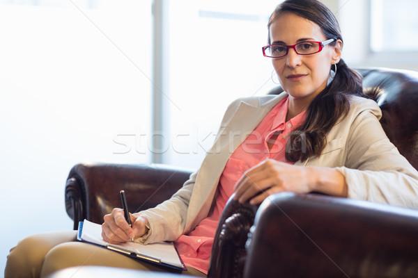Woman psychologist sitting down Stock photo © wavebreak_media