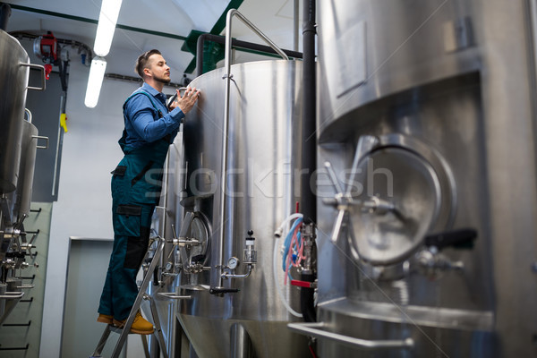 Maintained worker working at brewery Stock photo © wavebreak_media