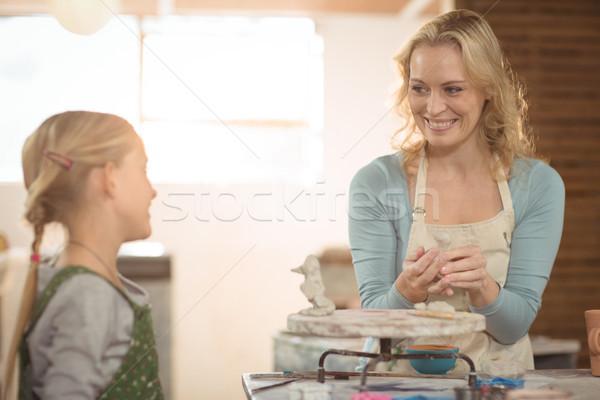 Foto d'archivio: Femminile · ragazza · lavoro · workshop · sorridere · business