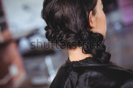 Mujer de negocios desechable taza de café mirando fuera Foto stock © wavebreak_media
