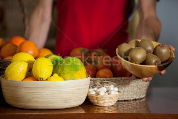 員工 碗 獼猴桃 對付 市場 商業照片 © wavebreak_media