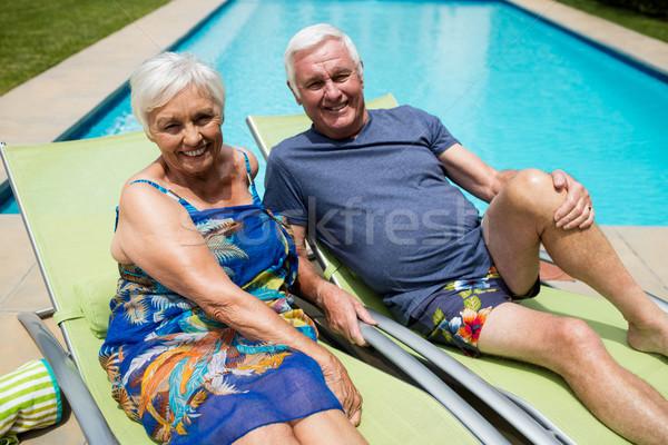 Ritratto rilassante lounge sedia donna Foto d'archivio © wavebreak_media