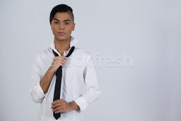 Transgender woman holding tie Stock photo © wavebreak_media