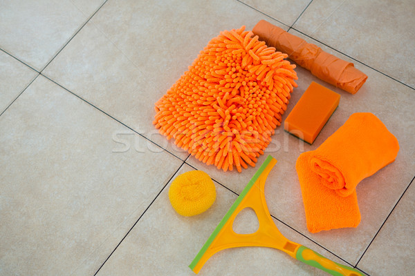 High angle view of orange cleaning products Stock photo © wavebreak_media