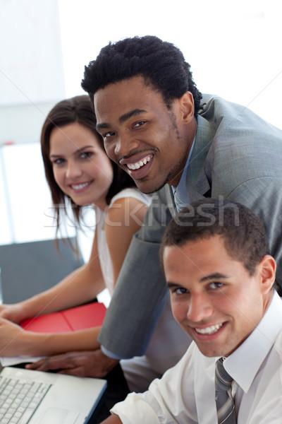 ビジネスチーム ノートパソコン オフィス コンピュータ 男 ストックフォト © wavebreak_media
