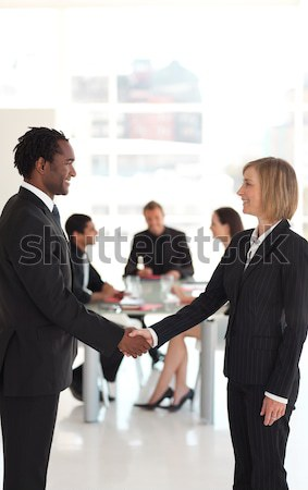 Iş adamları sözleşme toplantı iş Stok fotoğraf © wavebreak_media
