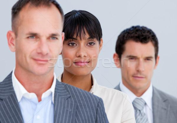 Permanent ligne bureau heureux affaires Photo stock © wavebreak_media