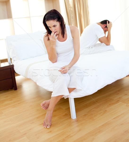カップル 外に 結果 妊娠検査 ストックフォト © wavebreak_media