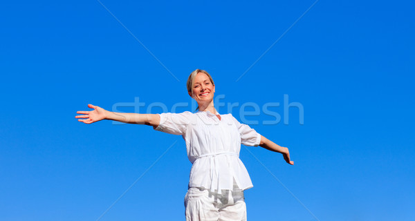 Young  woman feeling free Stock photo © wavebreak_media