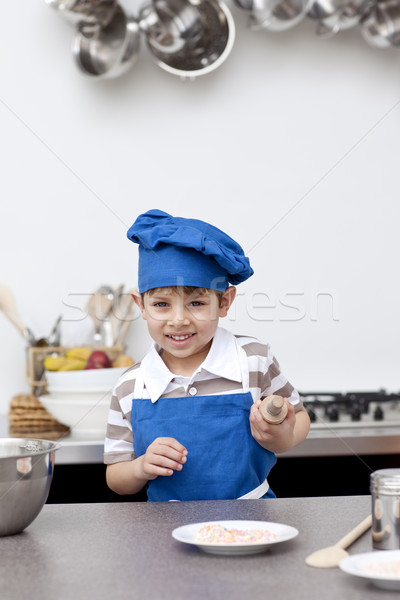 Little child ready to bake Stock photo © wavebreak_media