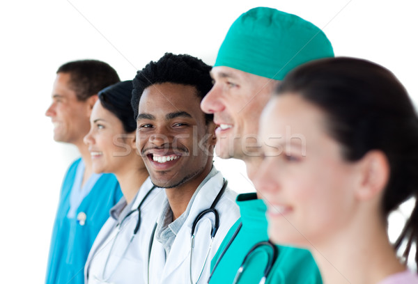 Internationale medische groep permanente samen witte Stockfoto © wavebreak_media