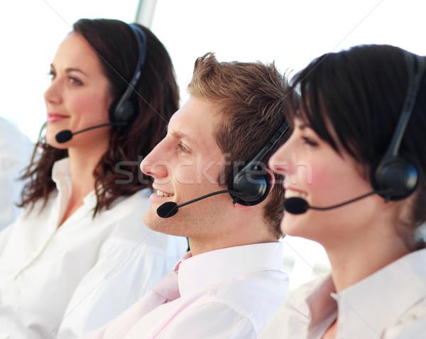 Retrato belo venda representante trabalho em equipe Foto stock © wavebreak_media
