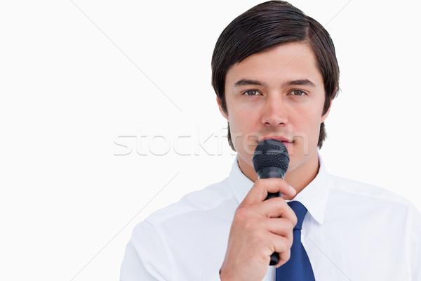 микрофона белый работу фон Сток-фото © wavebreak_media