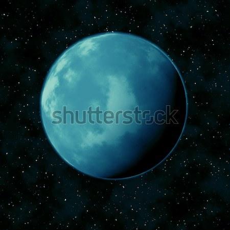Azul planeta estrela céu preto fundo Foto stock © wavebreak_media