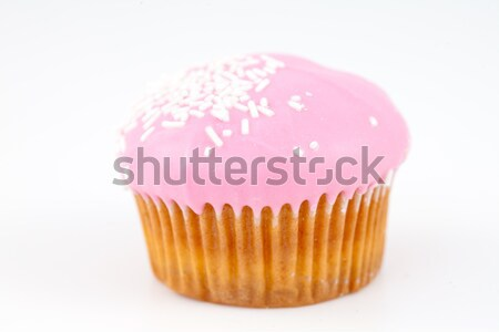 Pink cupcake against a white background Stock photo © wavebreak_media