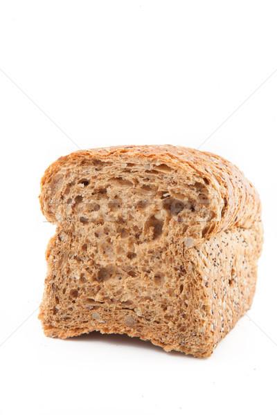 Teljes kiőrlésű kenyér fehér étel tő friss tárgy Stock fotó © wavebreak_media