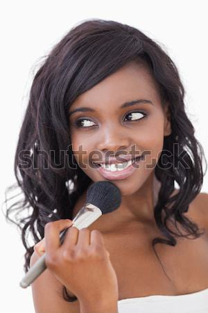 Vrouw permanente parel ketting witte Stockfoto © wavebreak_media